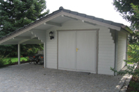 garagen aus holz garage doppelgaragen holzgaragen mit statik. Black Bedroom Furniture Sets. Home Design Ideas