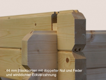 doppel holzgarage roger mit 28 4 m nutzfl che gr e 5 95 x 5 30 m. Black Bedroom Furniture Sets. Home Design Ideas