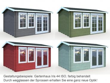 gartenhaus blockaus iris 11 1m gr e 4 10 x 3 20 m mit. Black Bedroom Furniture Sets. Home Design Ideas