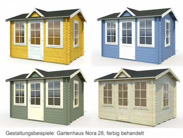 gartenhaus blockaus claudia 7 4m gr e 3 40 x 2 60 m mit echtglas. Black Bedroom Furniture Sets. Home Design Ideas