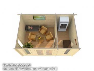 pultdach gartenhaus 4 70 x 3 20 m oriental 40 e mit. Black Bedroom Furniture Sets. Home Design Ideas