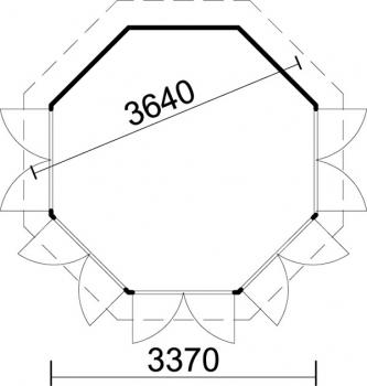 8 eck pavillon samana 360 4 7 durchmesser 3 64 m. Black Bedroom Furniture Sets. Home Design Ideas