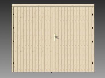 holzgarage typ 58 oder 70 b iso gr e 4 70 x 5 70 m mit holz doppeltor. Black Bedroom Furniture Sets. Home Design Ideas