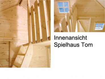 spielhaus tom aus holz auf zwei etagen 2 20 x 1 80 m. Black Bedroom Furniture Sets. Home Design Ideas