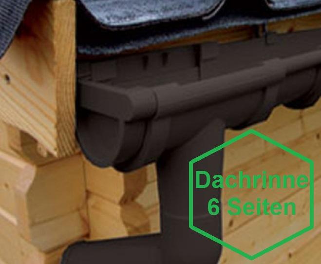 pvc kunststoff dachrinnen komplett set f r 6 eck d cher f r 6 seiten bis 3 00 m dachl nge. Black Bedroom Furniture Sets. Home Design Ideas