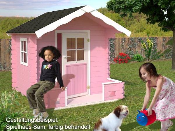 spielhaus sam mit terrasse 1 80 x 2 40 m garten holzhaus. Black Bedroom Furniture Sets. Home Design Ideas
