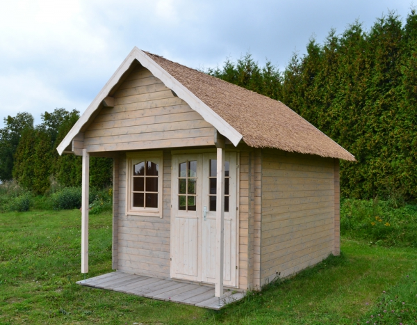 gartenhaus mit schlafboden bunkie 40mm 2 90 x 3 90 m gartenlaube holzhaus ebay. Black Bedroom Furniture Sets. Home Design Ideas