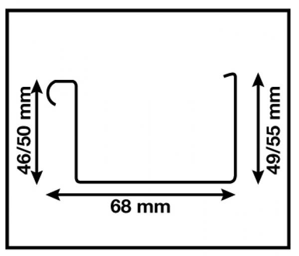 dachrinne pultdach set bis 3 50 m f r carport flachdach. Black Bedroom Furniture Sets. Home Design Ideas