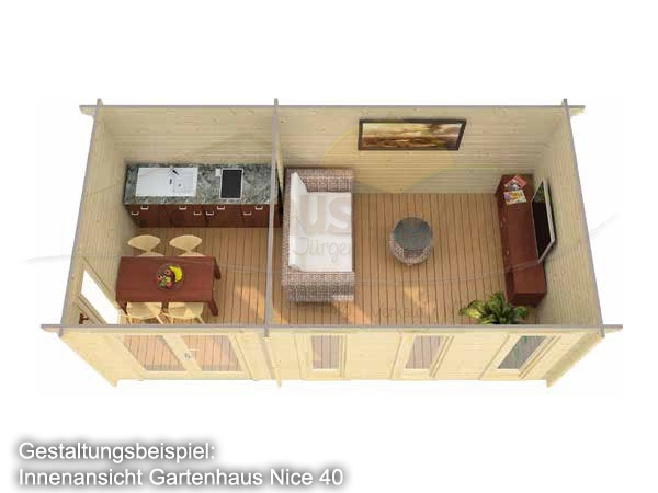 gartenhaus nice 40 iso blockhaus mit holzboden. Black Bedroom Furniture Sets. Home Design Ideas