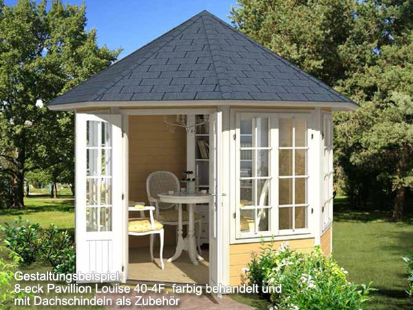 8 eck pavillon louise 40 4f 3 15 m gartenpavillon holz inkl boden lagerware ebay. Black Bedroom Furniture Sets. Home Design Ideas