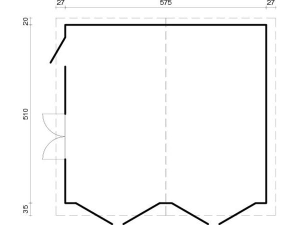 doppel holzgarage double 44 iso gr e 5 95 x 5 30 m garage doppelgarage ebay. Black Bedroom Furniture Sets. Home Design Ideas