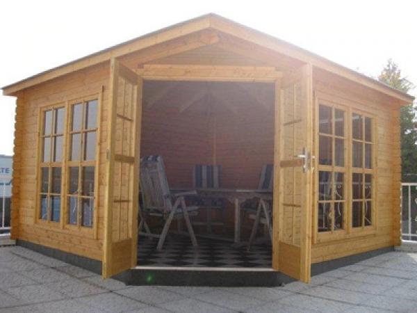 5 eck gartenhaus victoria 40 c 4 00 x 4 00m blockhaus mit holzboden gartenhaus ebay. Black Bedroom Furniture Sets. Home Design Ideas