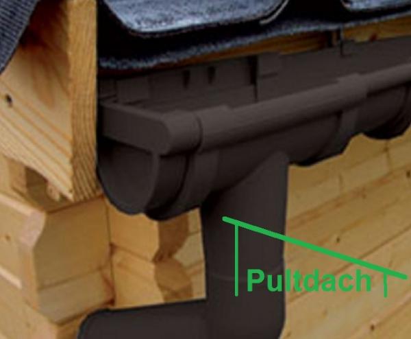 Halbrund dachrinnen set 6 00m f r pultdach gartenhaus anthrazit wei braun rinne ebay - Dachrinne fur gartenhaus ...
