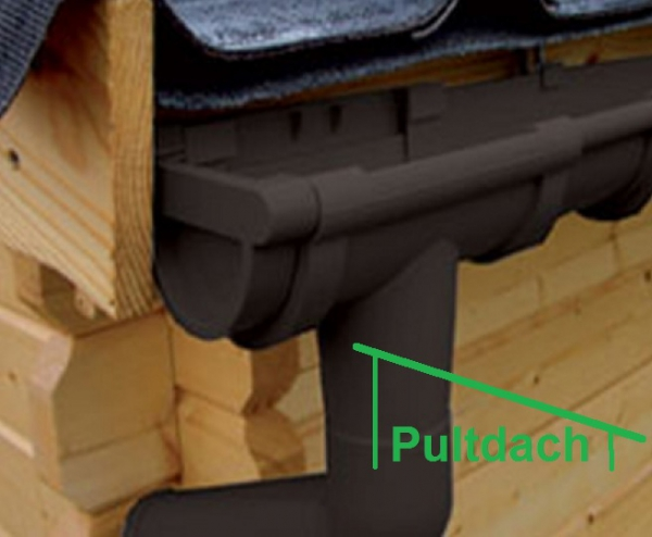 kunststoff dachrinnen komplett set f r pultd cher. Black Bedroom Furniture Sets. Home Design Ideas