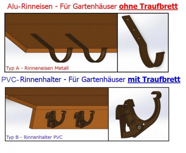 Halbrund dachrinnen set 3 50m f r pultdach gartenhaus anthrazit wei braun rinne ebay - Dachrinne fur gartenhaus ...
